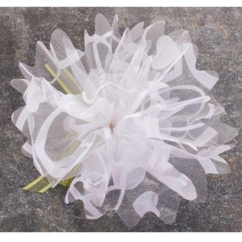 25 Tulles blanc organza avec coeur