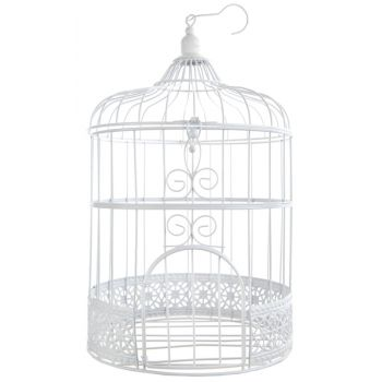 Urne cage blanche
