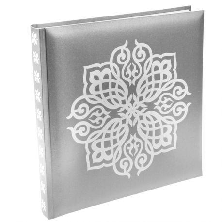 Livre d'or oriental argent Dimensions : 24 cm x 24 cm