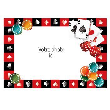 Décor sur sucre Poker A3 à personnaliser