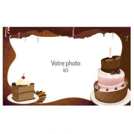 Feuille de sucre imprimée avec de l'encre alimentaire pour décorer vos gâteaux d'anniversaires.Taille A3 USA ( 25.8 cm x 41.2...