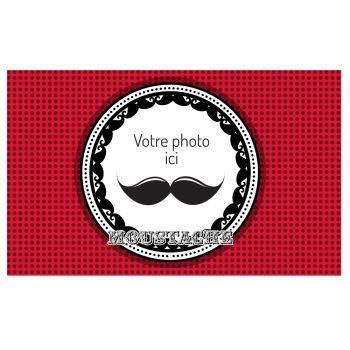 Décor sur sucre A3 Moustache à personnaliser