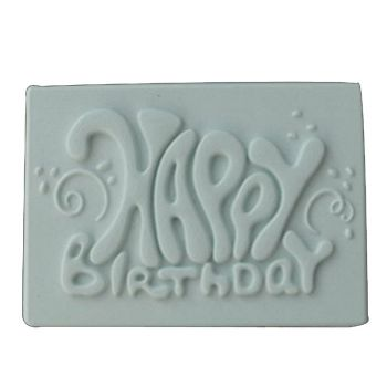 Moule à modelage plaque Happy Birthday