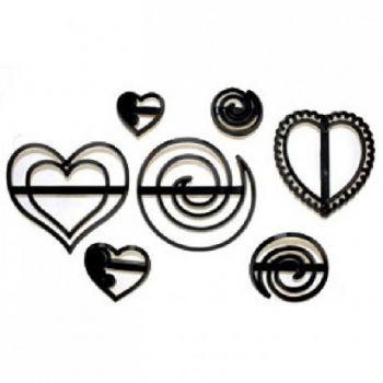 Découpe/empreinte Coeur et spirale