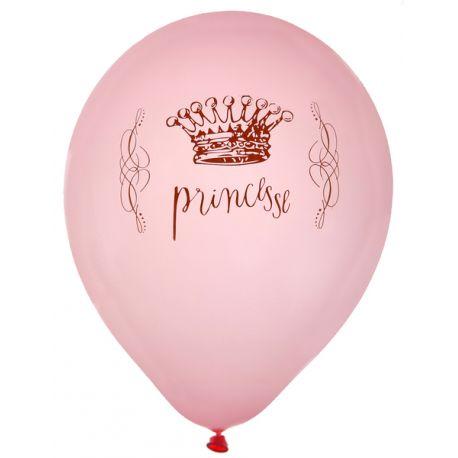 8 ballons latex impression princesse Ø 23 cm