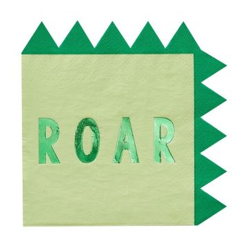 16 Serviettes Dinosaure Roar