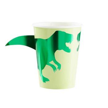 8 gobelets Dinosaure Roar