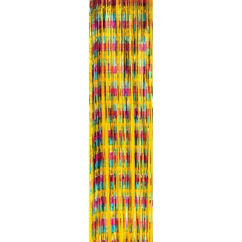 Rideau de fil métallisé multicolore