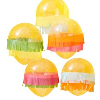 5 Ballons viva la fiesta à franges