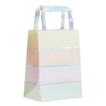 5 sacs arc en ciel pastel