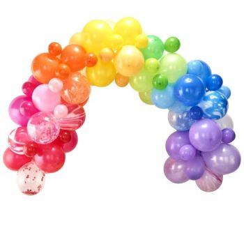 Kit arche de 85 ballons rainbow
