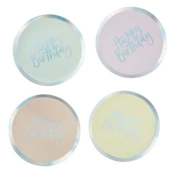 8 Assiettes pastel party