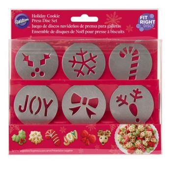 6 Disques Noël Presse à biscuit Wilton