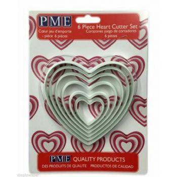 Set 6 emporte pièces coeur PME