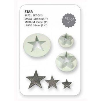 Set 3 emporte pièces étoiles PME