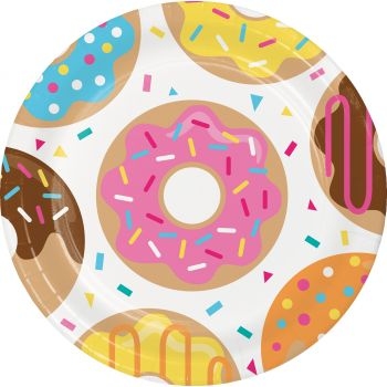 8 Assiettes Croc Donuts
