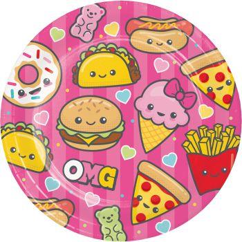 8 Assiettes Junk food fun