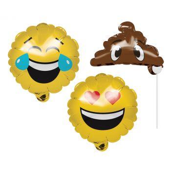 3 Accessoires à photobooth gonflable emoji
