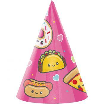 8 Chapeaux de fête Junk food fun