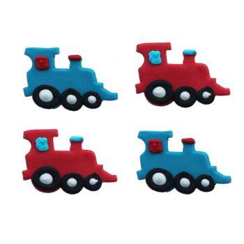 4 Petits trains en sucre