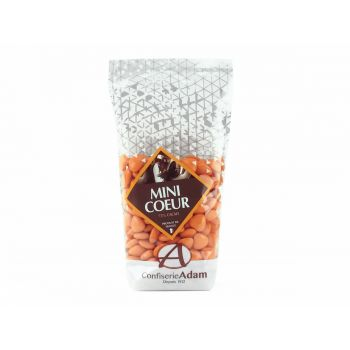 Dragées mini coeur chocolat brillant orange 250gr