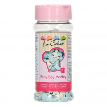Confettis en sucre Funcakes bébé garçon 50gr