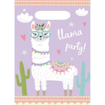 8 Sachets de fête Lama party