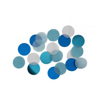 Confettis papier bleu