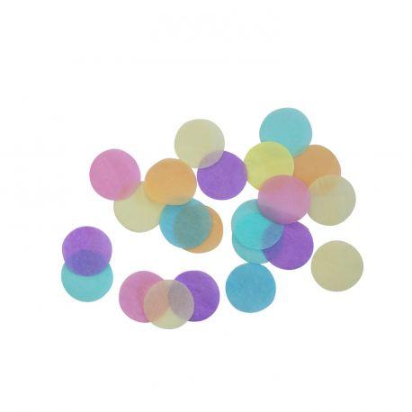 Confettis en papier ton pastel multicolore pour une belle décoration de table d'anniversaire 15gr