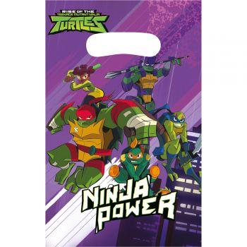 8 Sachets de fête Tortue Ninja mutant