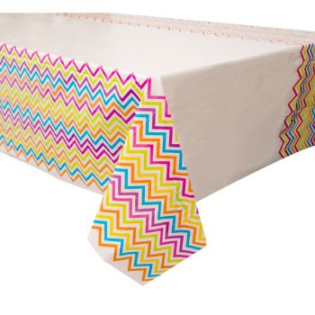 Nappe chevrons multicolore