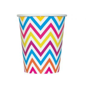 8 gobelets chevrons multicolore