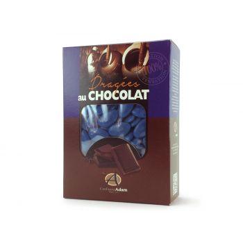 Dragées chocolat brillant bleu océan 1Kg