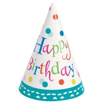 8 Chapeaux de fête Birthday cake
