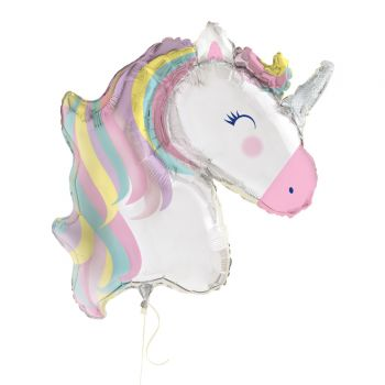 Ballons hélium mega tête de Licorne