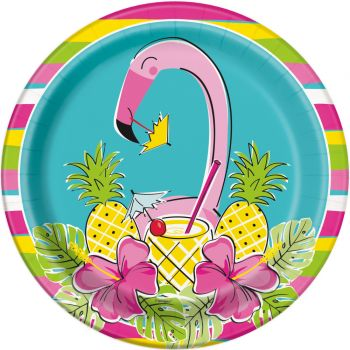 8 Assiettes flamand rose