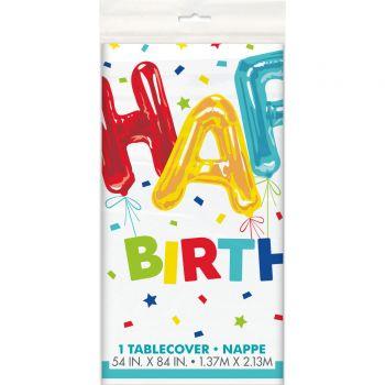 Nappe Happy Birthday ballons