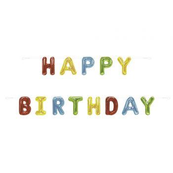 Banderoles Happy Birthday ballons