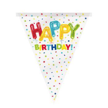 Guirlande de fanions Happy Birthday ballons