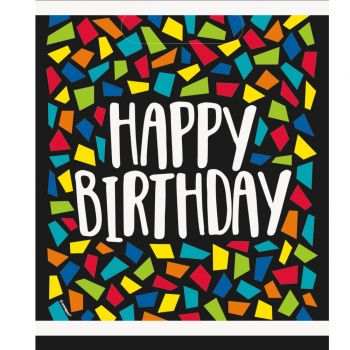 8 Sachets de fête Happy Birthday mosaic