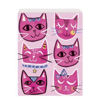 8 Pochettes papier pink cats