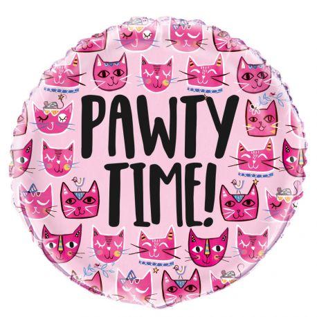 Ballon hélium en aluminium pink cats idéal pour une décoration de fête d'anniversaire pour les amoureux des chats Dimensions :...