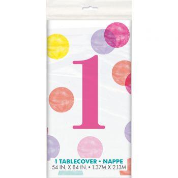 Nappe 1 an pink dots