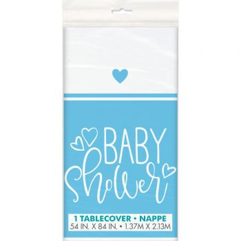 Nappe baby shower love bleu
