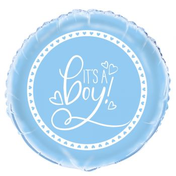 Ballon hélium Baby shower love bleu