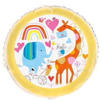 Ballon hélium Baby shower zoo