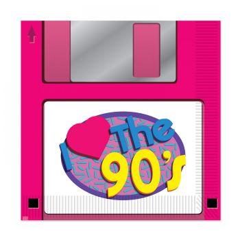 16 Serviettes disquette love 90