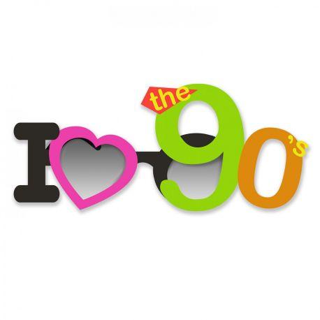 Lunette très originale I love 90 s pour être au top lors de votre soirée Année 90