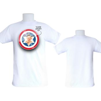 Tee-shirt homme personnalisé décor Capitaine