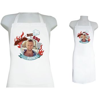 Tablier personnalisé décor Papa barbecue